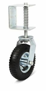 Nordstrand 8 inch Gate Wheel Casters Kit With Spring Up To 150 Lb Load Capacity