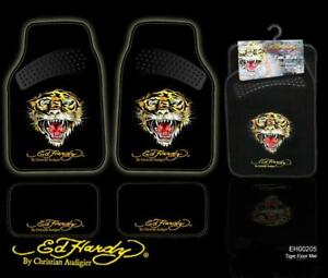 New Genuineed Hardy By Christian Audigier Front Rear Car Truck Carpet Floor Mats