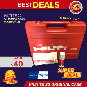 Hilti Te 22 tool Case Only Good Condition Strong Original Fast Shipping