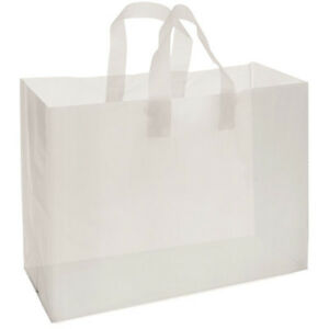 Frosted Store Gift Shopping Bags 16x6x12 Merchandise White Lot Of 250 New