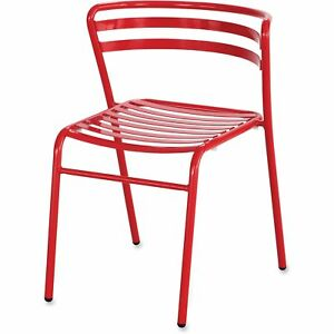 Safco Cogo Steel Outdoor indoor Stack Chair Red 2 carton 4360rd