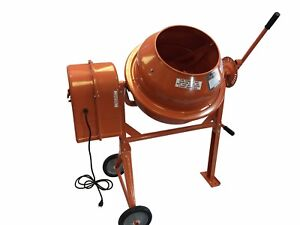 3 1 2 Cubic Ft Portable Solid Steel Stucco Mortar Cement Mixer New Free