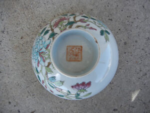 Antique Chinese Porcelain Polychrome Painted Floral Dish