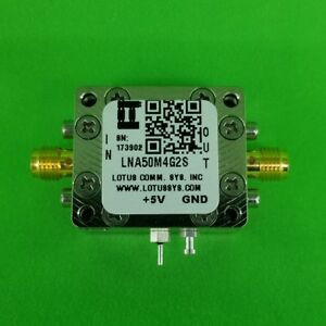 Broadband Low Noise Amplifier 0 8db Nf 50m 4ghz 36db Gain Sma 2 Stage High Gain