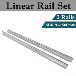Sbr20 1500 20mm Fully Supported Slide Guide Linear Rail Shaft Rod Cnc 2pcs