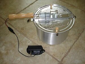 Kit For Motorizing A Whirley pop Stovetop Popcorn Popper For Roasting Coffee