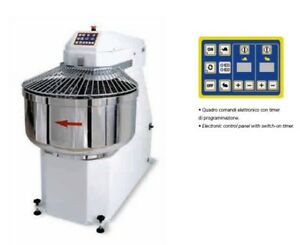 Spiral Dough Mixer 90 Lt 95 Qt 60 Kg 132lbs With Timer Made In Italy