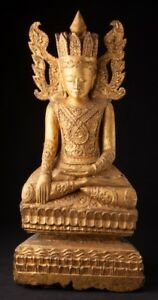 18th Century Antique Crowned Buddha Statue From Burma Antique Buddha Statues