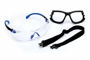 3m Solus 1000 series Safety Glasses Kit W Foam Gasket And Removable Strap 20 ca