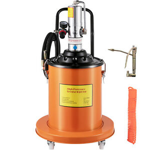 Vevor Air Operated High Pressure Grease Pump With 15ft Hose Gun Rigid Tool Pail