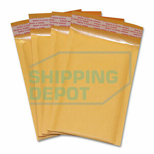 1 3000 0000 4x7 Small Kraft Bubble Pad Mailers Self Seal Envelopes 4 x7