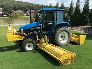 2001 New Holland Tractor ts90 19 10 Flail Mower