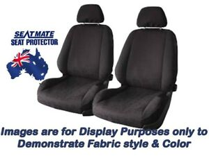 Front Black Seat Covers For Ford Falcon Ba bf Sedan Xt classic sr 9 2002 5 2008