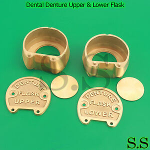 Dental Denture Upper Lower Flask New Lab Professional