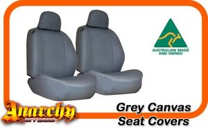 Front Bucket 3 4 Grey Canvas Seat Covers For Ford Ranger Px 10 2011 4 2015