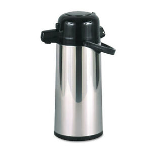 Commercial Grade 2 2l Airpot W push button Pump Stainless Steel black