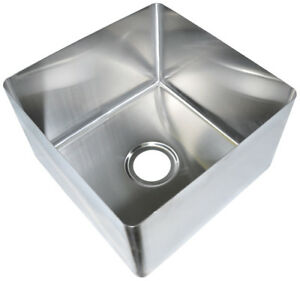 Bk Resources 20 x28 One Compartment Stainless Steel Weld in Sink