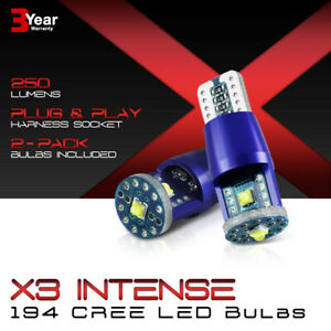 Supreme Cree Chips 2x 168 194 921 T10 T15 Led Reverse Back Up Light Bulbs Pair