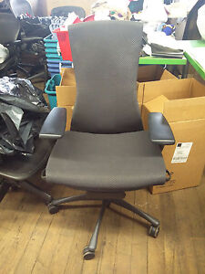 Herman Miller Embody Chair Black Frame Balance Fabric Fully Loaded
