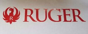 Ruger Decal Sticker Hand Gun Rifle For Auto Black Chrome Other Colors