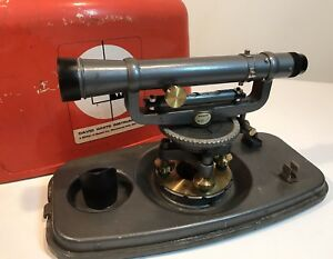 David White 8114 Surveyors Transit Level W case Theodolite Construction Tool