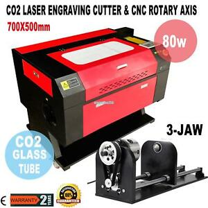 80w Co2 Usb Laser Engraving Cutting Machine Engraver Cutter W Cnc Rotary Axis