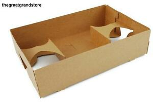 Boxes Lot Tray Container Kraft Paper Paperboard 4 Cup Food Drink 250 Box Bakery