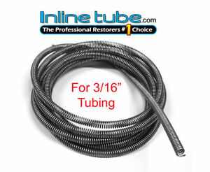 3 16 Brake Line Tube Spring Wrap Armor Guard Tubing Protectant Stainless 16ft Ss