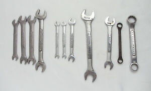Craftsman Double Open End Double Box Wrench Lot Sae Metric 11pcs Used