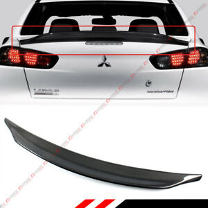 For 2008 17 Mitsubishi Lancer Evo X 10 Duckbill Carbon Fiber Trunk Spoiler Wing