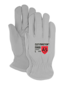 Magid Cutmaster Kevlar Lined Leather Drivers Gloves Large 12 Pair