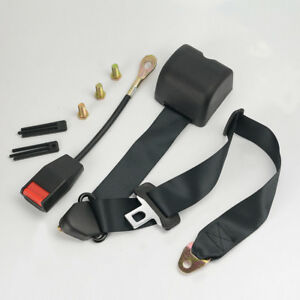 2x Car 3 Point Safety Travel Seat Belt Lap Adjustable Retractable Universal Auto