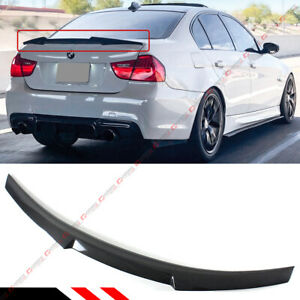 For 2006 11 Bmw E90 3 Series Sedan Carbon Fiber Trunk Lid Spoiler Wing M4 Style