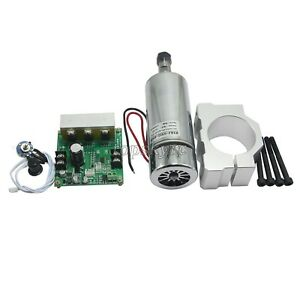 Cnc Router Milling 0 4kw Spindle Motor Pwm Speed Controller Mount