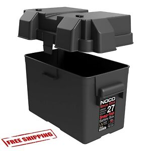 Snap Top Battery Box For Automotive Marine And Rv Group 27 Camper Durable New