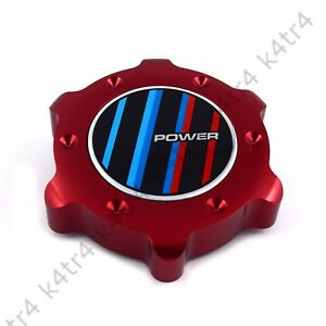 Stylish Red Aluminum Anodized Oil Filler Cap Fits Bmw 3 4 5 6 7 Series M Power