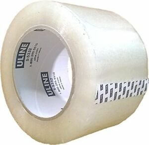 Packing Tape 3 X 110 Yard 2 6 Mil Crystal Clear Heavy Duty Tape By Uline 4pcs