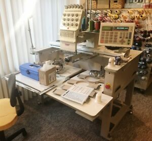 Swf a t1201 Embroidery Machine 2 Avail Low Count Professionally Maintained