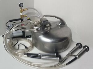 Usa Made Complete Surge Milking Machine cow goat sheep new 1 3 Hp Vacuum Pump
