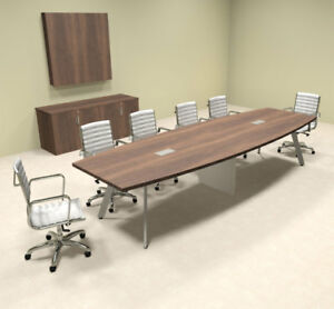 Modern Boat Shaped 12 Feet Conference Table of con cv17