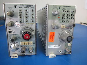 Tektronix 7b80 Time Base And 7b53a Dual Time Base Modules