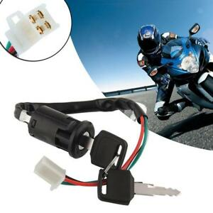 Universal Bike Replacement Ignition Switch With Tow Keys Kit For Motorcycle Dirt