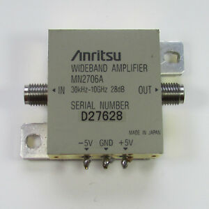 1pc Used Good Anritsu Mn2706a 30khz 10ghz 28db Wideband Amplifier