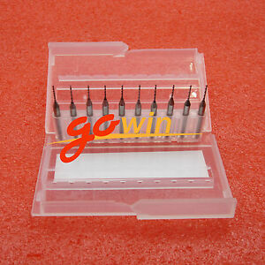 10pcs 0 8mm Mini Carbide Steel Engraving Drill Bit Pcb Press Cnc Dremel New