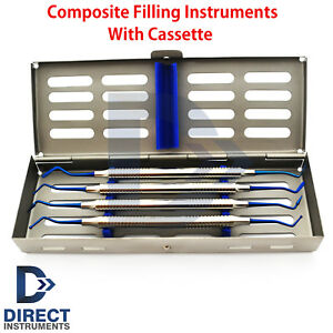 Dental Posterior Anterior Separating Composite Filling Instruments With Cassette