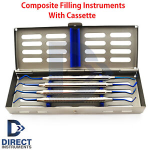 Dental Anterior Posterior Separating Composite Filling Instruments With Cassette