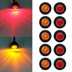 Rear Led Signal Light Trailer Tail Lights Kit Boat Marker Truck Round Waterproof