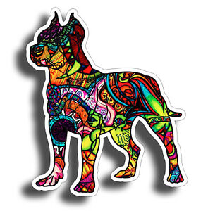Graffiti Pitbull Sticker Dog Cup Laptop Car Window Bumper K9 Pit Bull Pet Decal