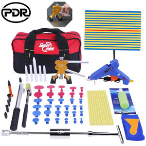68 Us Full Pdr Tools Paintless Dent Repair Puller Lifter Hail Removal Hammer Set