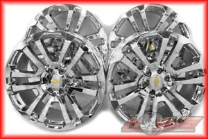 New 2015 22 Gmc Yukon Sierra Denali Chevy Silverado Tahoe Chrome Wheels Ck158